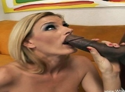 Anorectic Blonde MILF Attempts Some Big black cock