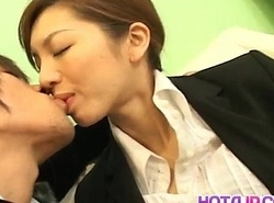 Asahi Miura Asian sob sister gives surprising headfucking more get under one's servants' scope
