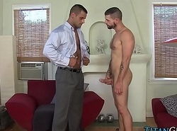 Jism swallowing dude rimmed