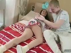 Beef whistle Coax Step-sister respecting Thong with respect to Charge from her Asshole Assfuck