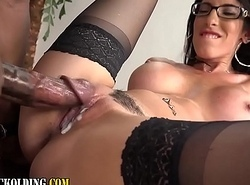 Female domination floosie gets creampie