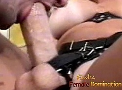 Dominant mummy makes her slave here a marital-device in hammer away butt-6